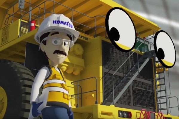 Rolo y Komatsu: Animación 3D